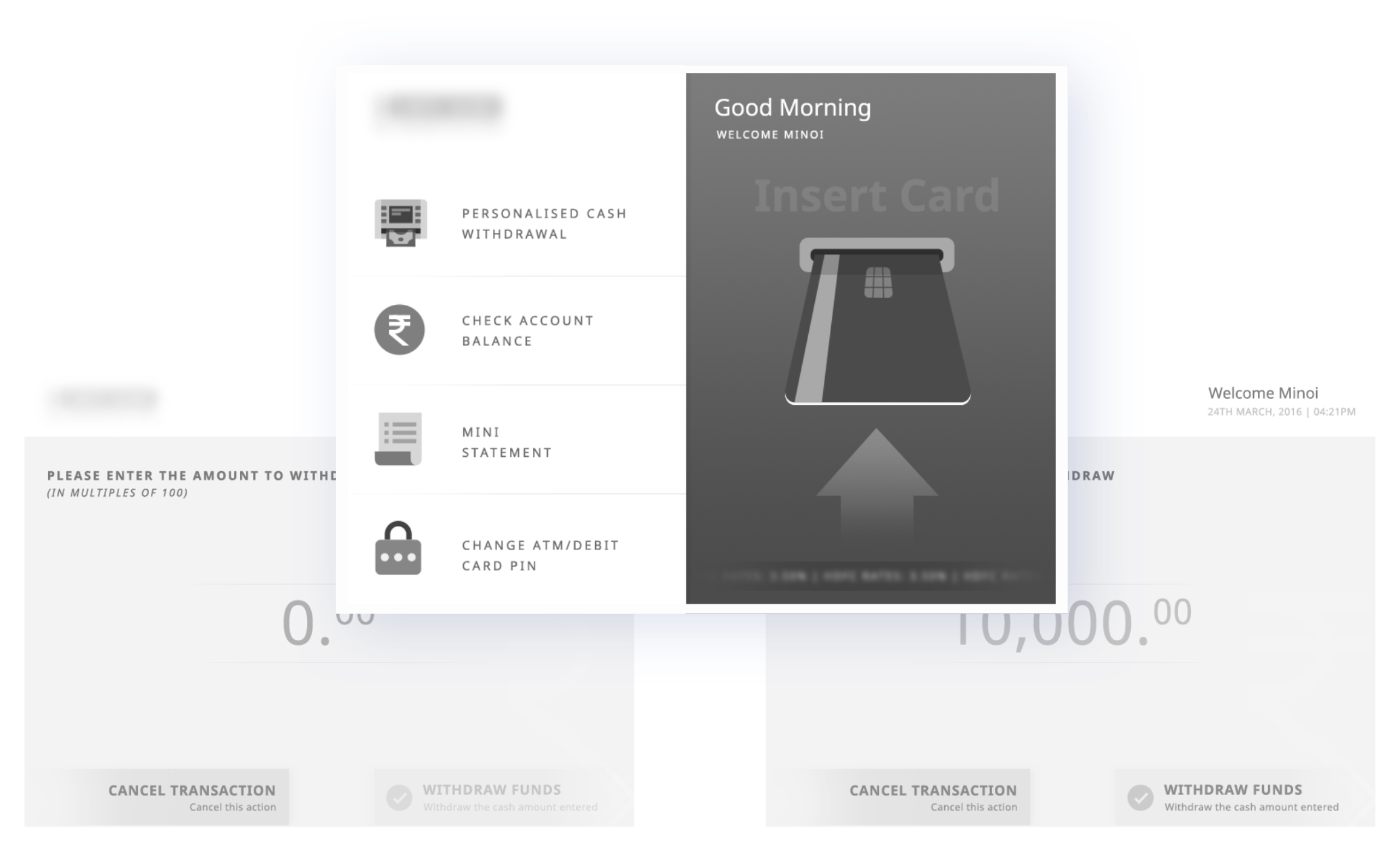ATM Screen Wireframe
